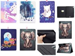 $enCountryForm.capitalKeyWord NZ - Bling Cartoon Cat Dog Rabbit Wallet Leather Case Stand Pouch For Ipad Pro 11 Inch 2018 tablet Fashion Owl Unicorn Elephant Skin Cover 1pcs