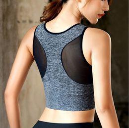Women mesh vest online shopping - Women Seamless sport bras wireless mesh Plus size quick dry fitness yoga running sport vest tops