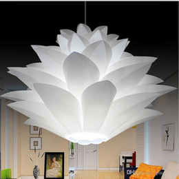 Kitchen Puzzle Australia - Lowest price on sale DIY Modern pinecone Pendant light creative lily lotus novel led e27 35 45 55cm iq puzzle lamp white