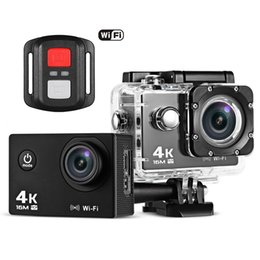 video camera full hd lens NZ - Waterproof Action Camera WiFi Camcorder with Remote Control Full HD 1080P Camera DVR Cam DV Video Camcorder 2.0 LCD 170 Lens Diving BA