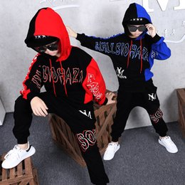 Hip Hop Clothing Babies Canada - hot 2019 Hip-hop baby Sweatshirt HBA clothes kids clothes long sleeve casual boy clothe red blue Sportswear high quality