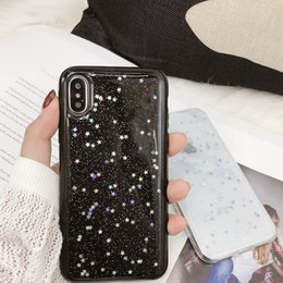 Wholesale Bling Glitter paillette Soft Phone Case For iphone XS Max XR X S Plus Fashion Clear Shinning Star Back Cover