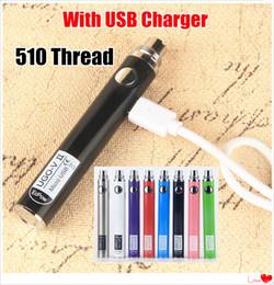 Ego Battery Vape Australia - 100% Original UGO V II vaporizers 510 Thread Battery Micro USB Passthrough Vape Pen 650 900 mAh EVOD eGo T Vape batteries with USB Charger