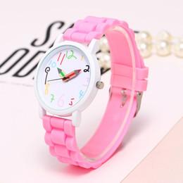 Discount pencil watches - Girls White Case Silicone Belt Children Watches Pencil Pointer Watch Girls Kids Paint Clock