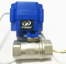 """Ac Control Valve Australia - YIDAY Mini Motorized Ball Valve- 3 4"""" SS304 Ball Valve with Full Port, AC DC 9-24V and CR02 3 Wire"""