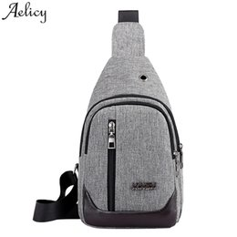 chest belt for men Australia - Aelicy Men Crossbody Bag @ Oxford USB Boy Chest Bags Leisure Multi-function travel belt Waist Bags for men 2019 NEW dropshipping
