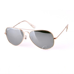 Glasses Sun Protection Australia - carfia silver Style Mirror glass metal Gafas Sun Glasse pilot sunglasses Men Women Sunglasses 58mm 62mm UV protection with box