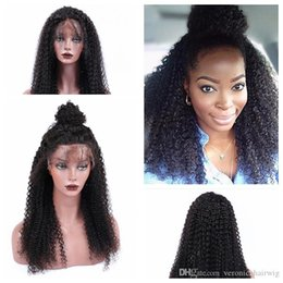 Discount 613 curly wig - 1b# 2# 6# 27# 613# Cheap Afro Kinky Curly Wigs with Baby Hair Heat Resistant Gluelese Synthetic Lace Front Wigs for blac