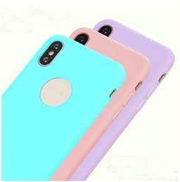 Transparent Colors Case NZ - Ultra Thin Slim Silicone Case Candy Solid Colors Soft TPU Gel Jelly phone Cases Back Cover for iPhone X XS MAX XR 8 7 6 6S 5S Plus