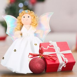 Guardian anGel Gifts online shopping - Christmas Angel Christmas Tree Topper Tree Top Guardian Angel Decoration Children s Holiday Gift Home Decor New