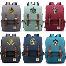 Discount school bags for girls - For Vip Link Magic Hogwarts Ravenclaw Slytherin Gryffindor Boy Girl Student School bag Teenagers Schoolbags Women Men Ba