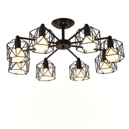 $enCountryForm.capitalKeyWord UK - Vintage Chandeliers Multiple Rod Wrought Iron Ceiling Lamp E27 Bulb Living Room Lamparas for Home Lighting Fixtures