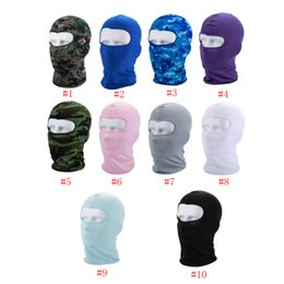 Wholesale Sport Ski Mask Bicycle Cycling Mask Caps Motorcycle windproof dust head sets Camouflage Tactical Mask ZZA204