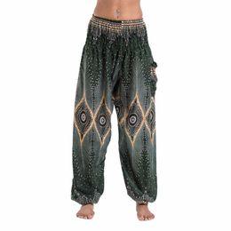$enCountryForm.capitalKeyWord Australia - Summer Beach Yoga Pants Women High Waist Print Bloomers Fitness Clothing Thai Style Harem Pants Female Free Size