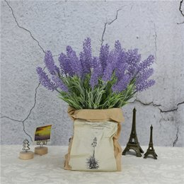 flower arrangement Canada - 7 Fork Simulation Lavender Plant Mao Pastoral Style Engineering Decoration Put Flower Shooting Green Plant Flower Arrangement Gardening