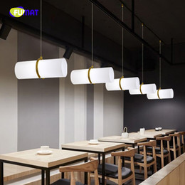 led cylinders UK - FUMAT Nordic Style Creative Cylinder K9 Crystal Stainess Steel LED Pendant Lighting Luxury Personality For Dining Room CoffeeBar