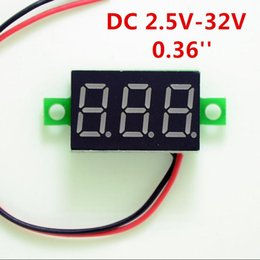 digital display panel meters Australia - Mini DC 2.5V-30V 2-Wire 0.36in LED Digital Display Panel Battery Voltmeter Battery Voltage Meter for Auto Car Motorcycle Battery