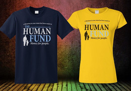 Ship funding online shopping - New Seinfeld The Human Fund T Shirt Yellow Navy Blue Top Colour Cool Tee Funny Unisex Casual Tshirt top