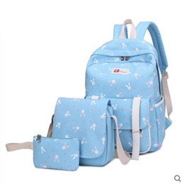 $enCountryForm.capitalKeyWord NZ - 2PCS  set Women And Men Printed Unicorn Backpack School Bags For Teenage Girls Travel School Bags