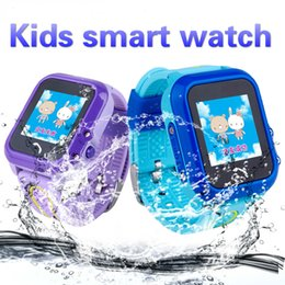 safe baby monitors 2020 - Kids smart watch DF27 IP67 Waterproof Children baby GPS Swim phone smart watch SOS Call Location Device Tracker Kids Saf