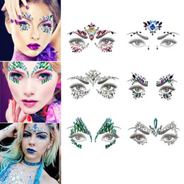 1 Sheet Glitter Jewels Tattoo Sticker Face Body Gems Gypsy Festival  Adornment Party Beauty Eye Temporary Tattoo Stickers Tools 367026ddec30