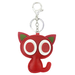$enCountryForm.capitalKeyWord UK - New PU artificial leather cat key fastener with big eyes toy gifts for ladies, bags, car keys and accessories.