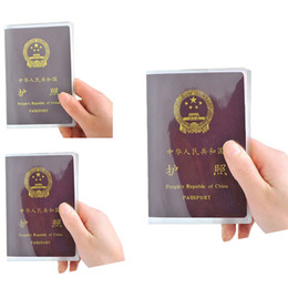 Hot Sale Silicone Transparent Waterproof Dirt Id Card Holders Passport Cover Business Card Credit Card Bank Card Holders Bags Office & School Supplies