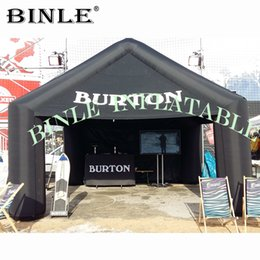 $enCountryForm.capitalKeyWord UK - Hot sale 5m black inflatable square tent with logo printing inflatable kiosk tent for for trade show