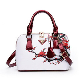 Bag Hand Korean Style Australia - Women New Ethnic Style Pu Shoulder Bag Tote Korean Fashion Elegant Vintage Messenger Hand Bags Retro Shell Bag Big Totes Handbag