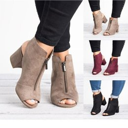 $enCountryForm.capitalKeyWord Australia - Hot Europe Women Sandals High-heel Shoes Woman 2019 Spring Summer Fashion Sexy Casual Fish Mouth Wedge Sandals Plus Size 34-43 MX190727