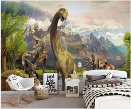 kids dinosaur room decor NZ - 3d wallpaper custom photo on the wall Jurassic Dinosaur World Children's Room background home decor 3d wall murals wallpaper for walls 3 d