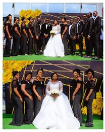$enCountryForm.capitalKeyWord Australia - 2019 Black Off The Shoulder Bridesmaid Dresses Mermaid South Africa Style Maid Of Honor Wedding Guest Gown Custom Made Hot Sale