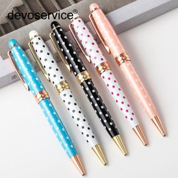 pens ball Australia - Fashion Lady Metal Ballpoint Pen Business Gel Pens Wedding Office Metal Roller Ball Pen For Writing Office Stationery Supplies