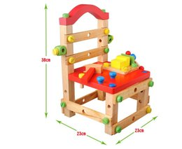 Chinese  Disassembly Toys Luban Disassembly Chair Nut Combination Assembly Toy Tool Chair Children's Puzzle Toy Boys manufacturers