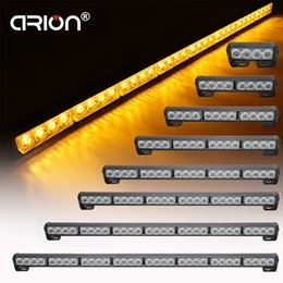 Fireman lamps online shopping - car styling Car Long Led Emergency Strobe Flash Warning Light Flashing Truck Fireman Amber yellow Lamp automobiles