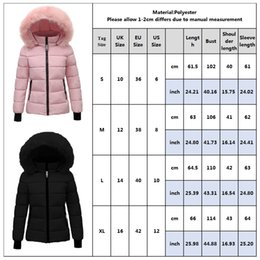 jacket design ladies denim UK - Women Winter Jacket And Coat Withe Fur Hood Ladies Solid Slim Hooded Parkas Thick Warm Windproof Overcoat Female Outerwear D40