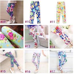 Dot Leggings Australia - 35 style Butterfly Print Summer Girl Leggings Elastic Comfortable Girl Pants Kids Children Leggings Baby Girl Clothes 2-13T b885
