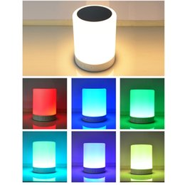 $enCountryForm.capitalKeyWord NZ - new Portable Wireless Music Player TF Card Insert Wireless 6 Color Touch table Sensor Dimmable Smart Baby Night Light with Bluetooth