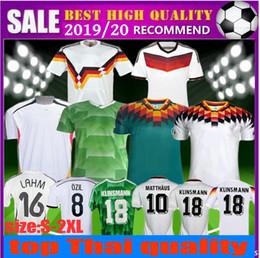 eae04d0c851 Germany Retro 2006 2014 Soccer Jersey 1990 1994 1988 VINTAGE CLASSIC  KLINSMANN Matthias home away KALKBRENNER 94 98 Football Uniform shirt