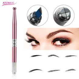 $enCountryForm.capitalKeyWord Australia - Microblading Eyebrow Professional Tattoo Tool Manual Pen Tool Permanent Makeup Eye Brow Tattoo Accessories Tattoo Supply Microblade