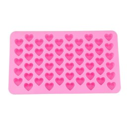 55 heart silicone mold UK - Silicon chocolate molds heart shape 55 holes silicone cake mold silicon ice tray jelly moulds soap mold cake bakeware tools LX7097