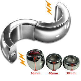 $enCountryForm.capitalKeyWord Australia - Heavy Scrotum Pendant Stainless Steel Male Magnetic Chastity Lock Ball Stretchers Scrotal Penis Pendant Cockrings Sex Toy for Men B2-2-254