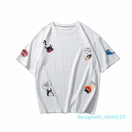 youths clothing UK - t shirt for men Cartoon Short-Sleeved T-shirt Men Loose Youth Clothes 2020 New Summer Clothes streetwear vintage t shirt d10