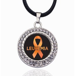 Support giftS online shopping - LEUKEMIA SUPPORT CIRCLE CHARM Crystal Pendant Necklaces For Women Vintage Charm Choker Necklace Party Jewelry Gift