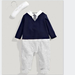 Christening Suits Australia - Christening Dress Baby Boy Baptism Kids New Gentleman Suit Wedding Cfull Cotton with Bow Tie Infant Clothing Boutique Sets