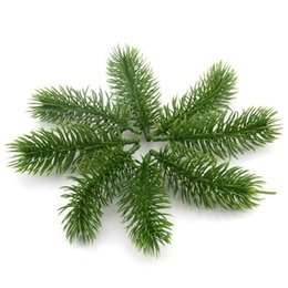 $enCountryForm.capitalKeyWord UK - 15pcs Artificial Plastic Green Pine Plants Branches Wedding Home Party Decorations Diy Christmastree Handcraft Accessories