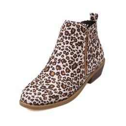 $enCountryForm.capitalKeyWord UK - Lady Leopard Spring Autumn Square Heels Ankle Boots Plus Size 35-43 Women's Pu Leaher Zip European Design Martin Boots Shoes