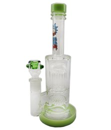Cheap Percolator Water Pipes UK - Cheap New Oil Rigs Glass Bong Thick Water Pipe Perc Honeycomb Percolator Smoking Piper Female Joint Thick Arms