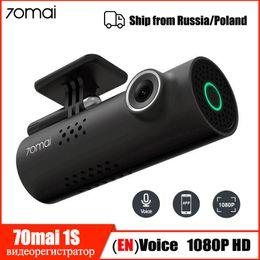 Großhandel Hot Xiaomi 70mai Dash Cam 1S Auto DVR Wifi Englisch Sprachsteuerung dashcam 1080P HD Nachtsicht-Auto-Kamera-Videogerät G-Sensor
