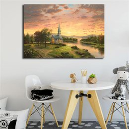 $enCountryForm.capitalKeyWord UK - Churches Archives Thomas Kinkade Wall Art Canvas Poster And Print Canvas Painting Decorative Picture For Living Room Home Decor Framework